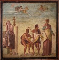 Affresco raffigurante il Sacrificio di Ifigenia Casa del Poeta Tragico, Pompei.jpg