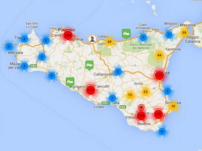 Mappa Naturalistica di Sicilia