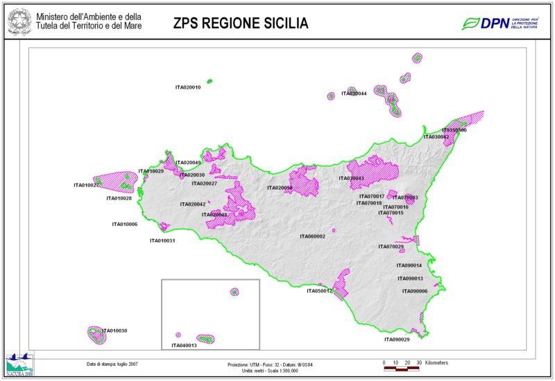 Elenco ZPS Regione Sicilia