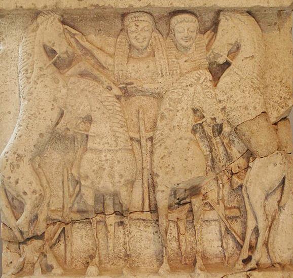 Demetra e Kore su quadriga