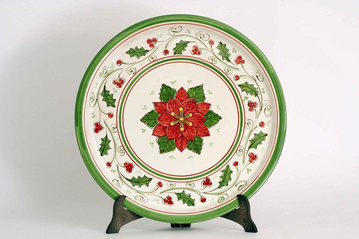 Piatto da portata in ceramica di caltagirone la sicilia in rete